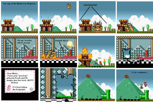 Toad's Castle • View topic - Fan Comic: Super Mario Bros X-treme